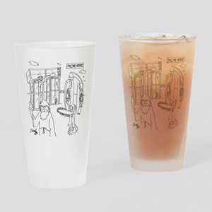 Phone Cartoon 9318 Drinking Glass