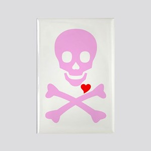 Pink Pirates Love Rectangle Magnet