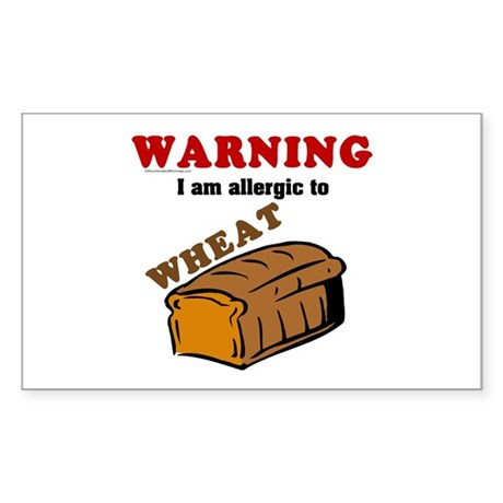 Wheat Allergy Rectangle Sticker