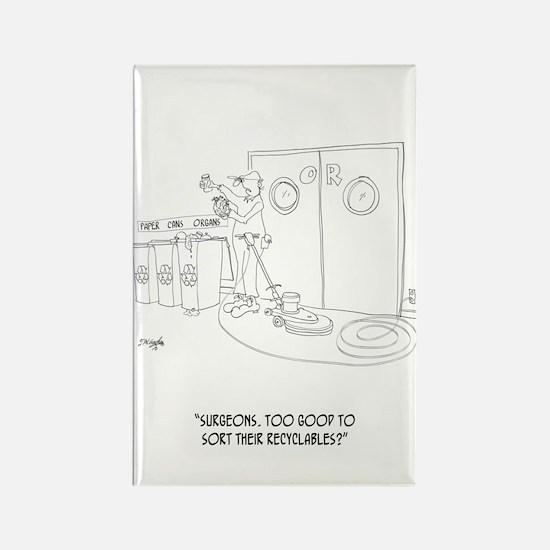 Recycling Cartoon 9265 Rectangle Magnet