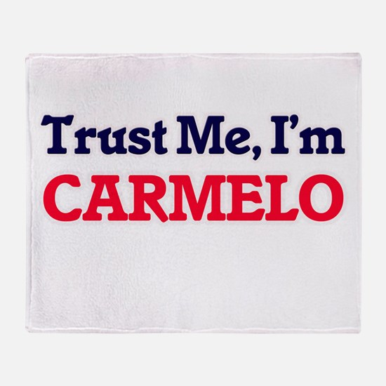 Trust Me, I'm Carmelo Throw Blanket