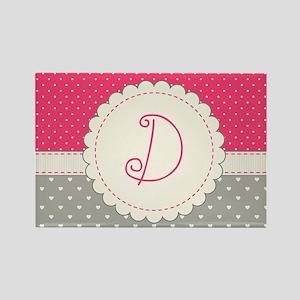 Cute Monogram Letter D Magnets