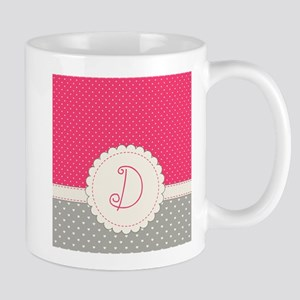 Cute Monogram Letter D Mugs