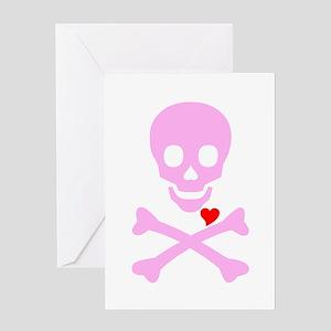 Pink Pirates Love Greeting Card