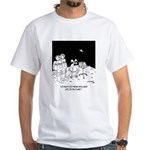 Astronaut Cartoon 5595 White T-Shirt