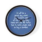 Air Force Bake Sale Wall Clock