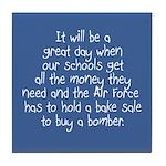 Air Force Bake Sale Tile Coaster