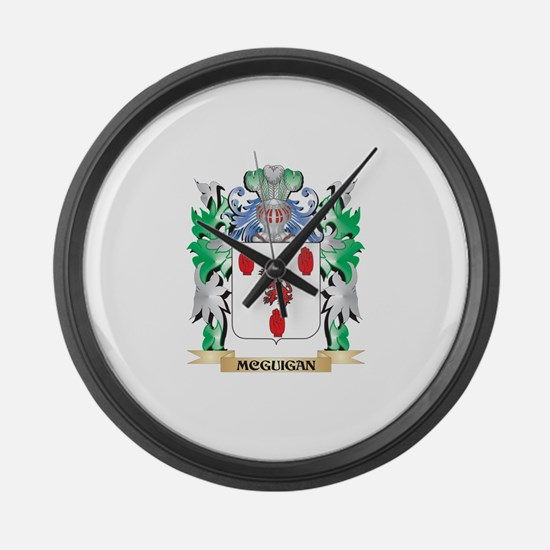 Mcguigan Coat of Arms - Family Cr Large Wall Clock