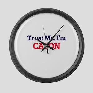 Trust Me, I'm Cason Large Wall Clock