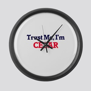 Trust Me, I'm Cesar Large Wall Clock