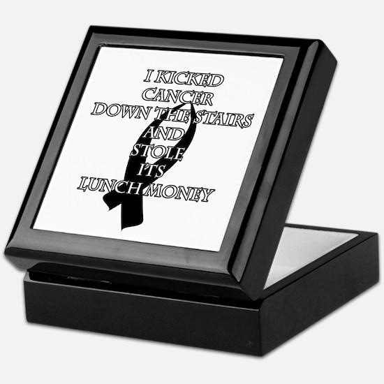 Cancer Bully (Black Ribbon) Keepsake Box
