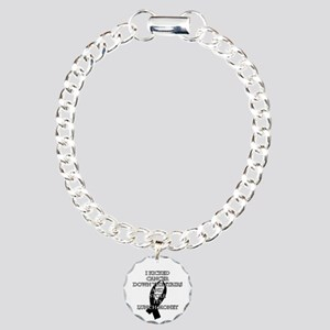 Cancer Bully (Black Ribbon) Bracelet