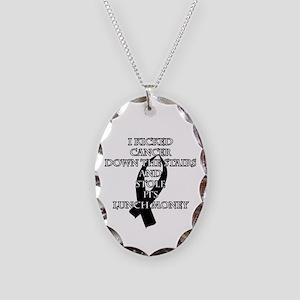Cancer Bully (Black Ribbon) Necklace