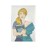 Split Mina Rectangle Magnet (100 pack)