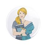 "Split Mina 3.5"" Button (100 pack)"