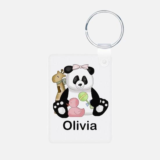 olivia's little panda Keychains