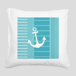 Nautical Summer Design Square Canvas Pillow