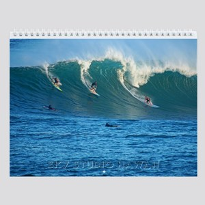 Waimea Bay Hawaii Big Winter Surf Wall Calendar