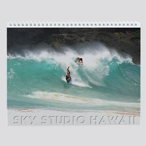 Hawaii Bodyboarders Wall Calendar