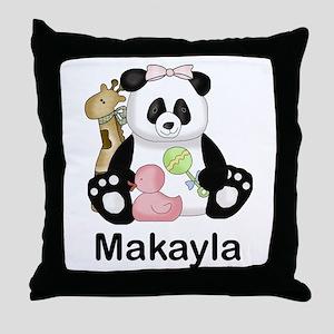 makayla's little panda Throw Pillow