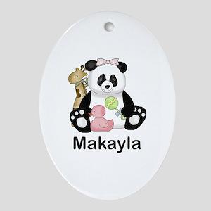 makayla's little panda Oval Ornament