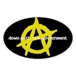 Anti-Gov't Oval Sticker