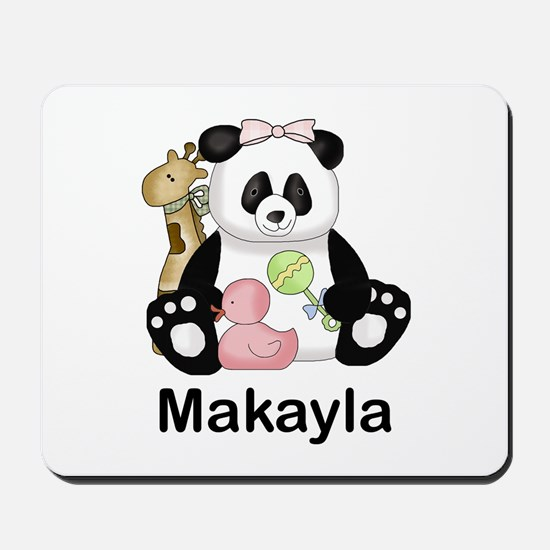 makayla's little panda Mousepad