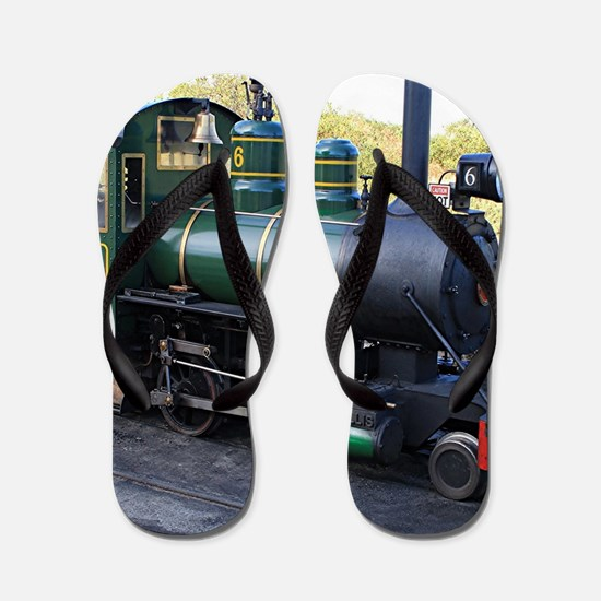 Steam engine locomotive, Australia Flip Flops