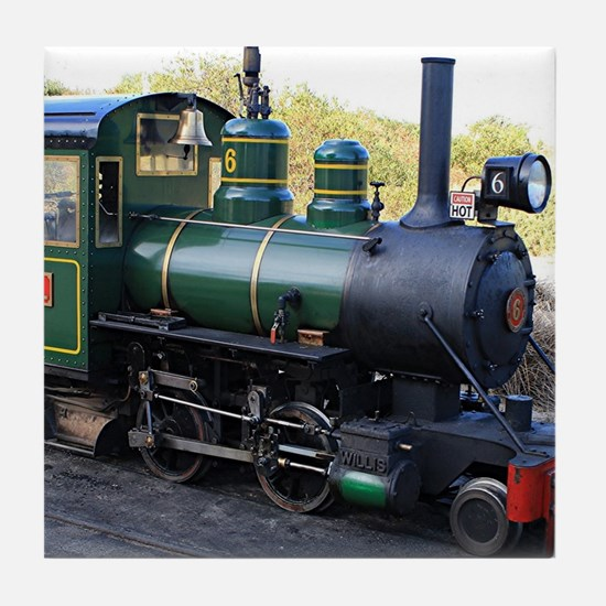 Steam engine locomotive, Australia Tile Coaster