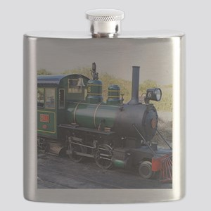 Steam engine locomotive, Australia Flask