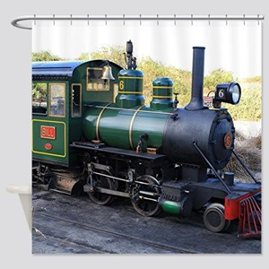 Steam engine locomotive, Australia Shower Curtain