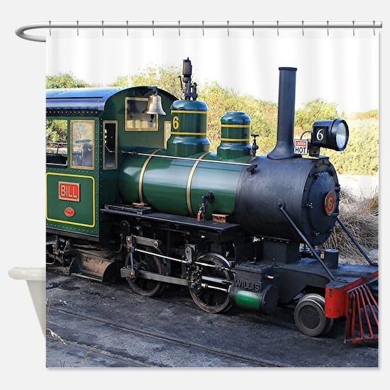 Steam engine locomotive, Australia Shower Curtain