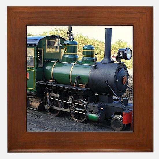 Steam engine locomotive, Australia Framed Tile