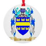 Stump Round Ornament