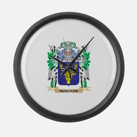 Mckenzie Coat of Arms - Family Cr Large Wall Clock