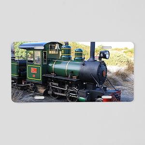 Steam engine locomotive, Au Aluminum License Plate