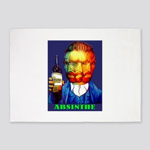Absinthe Liquor Drink 5'x7'Area Rug