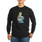 Split Mina Long Sleeve Dark T-Shirt