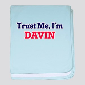 Trust Me, I'm Davin baby blanket