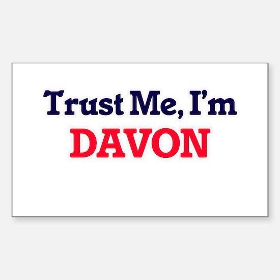 Trust Me, I'm Davon Decal