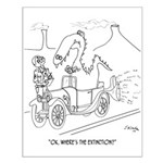 Extinction Cartoon 9325 Small Poster