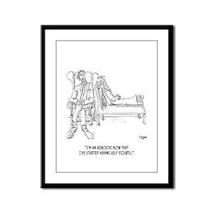 Religion Cartoon 2064 Framed Panel Print