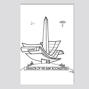 Bookkeeper Cartoon 2145 Postcards (Package of 8)