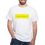 </government> White T-Shirt