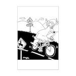 Deer Cartoon 6721 Mini Poster Print