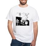 Deer Cartoon 6721 White T-Shirt