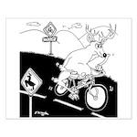 Deer Cartoon 6721 Small Poster
