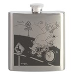 Deer Cartoon 6721 Flask