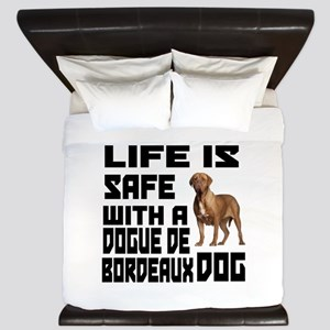 Life Is Safe With ADogue De Bordeaux King Duvet