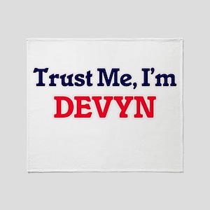 Trust Me, I'm Devyn Throw Blanket
